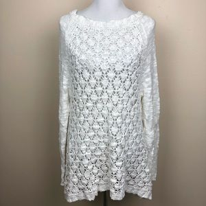 Moth for Anthropologie ivory chunky knit tunic
